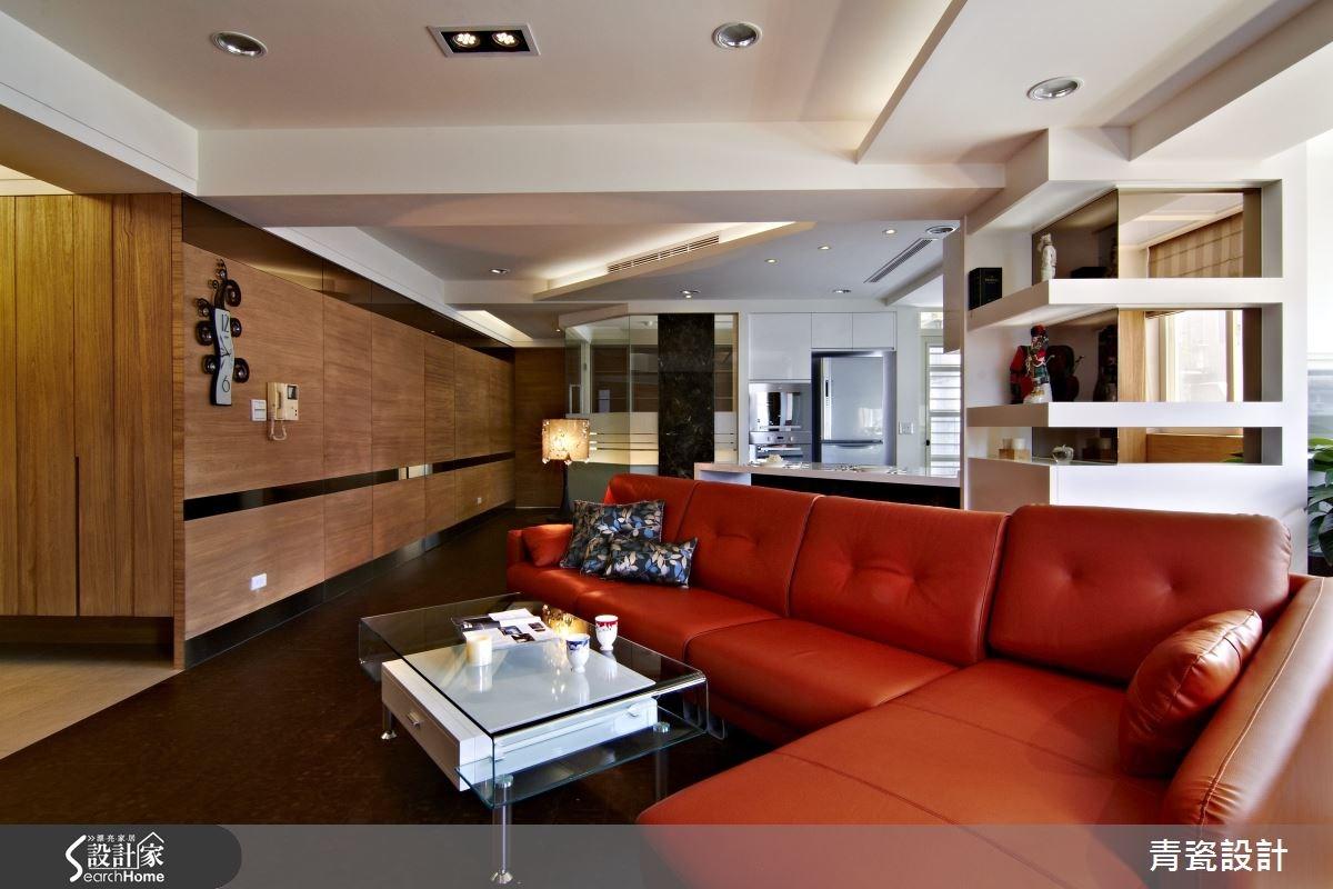 34坪中古屋(5~15年)_混搭風客廳案例圖片_青瓷設計工程有限公司_青瓷_02之4
