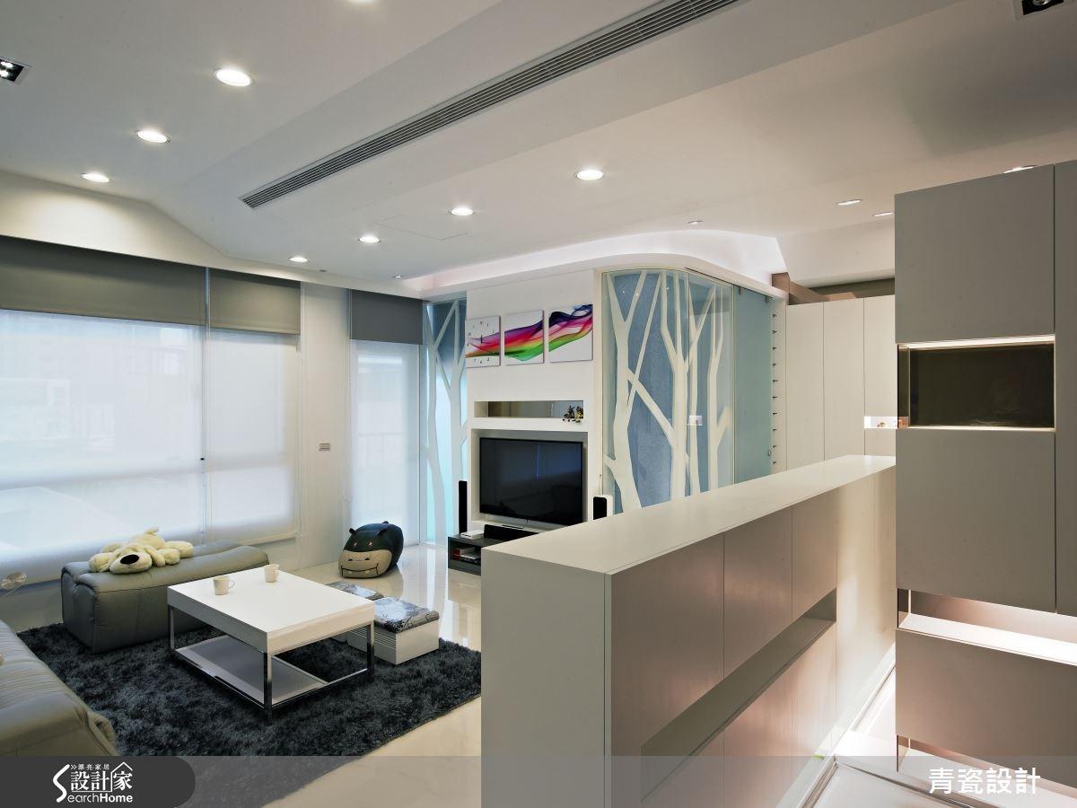 60坪新成屋(5年以下)_混搭風客廳案例圖片_青瓷設計工程有限公司_青瓷_07之1