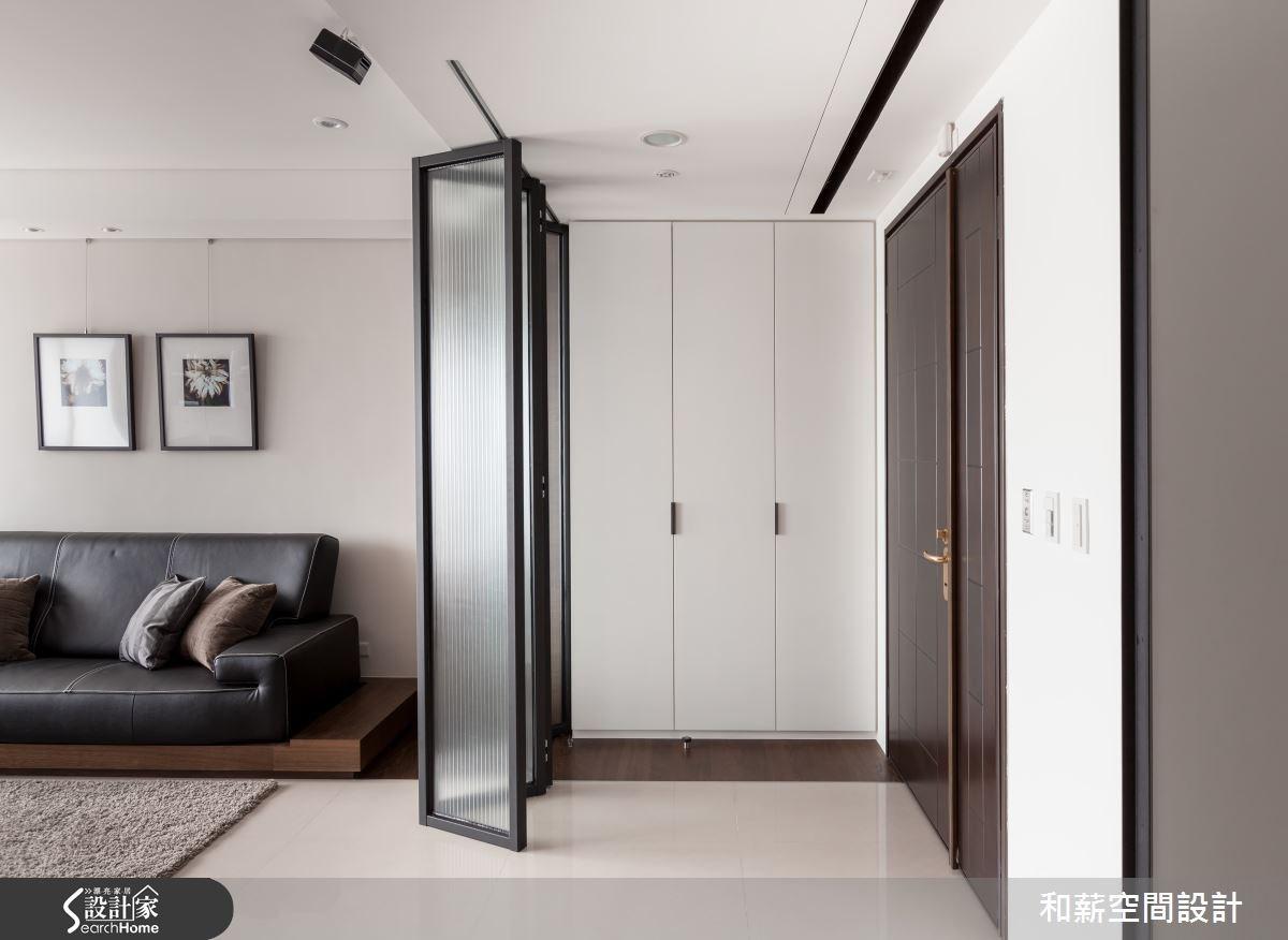 45坪新成屋(5年以下)_混搭風玄關案例圖片_和薪室內裝修設計有限公司_和薪_03之2