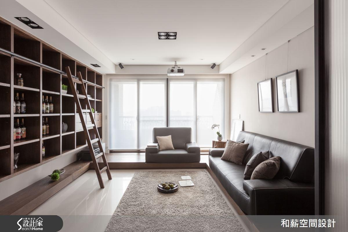 45坪新成屋(5年以下)_混搭風客廳案例圖片_和薪室內裝修設計有限公司_和薪_03之3