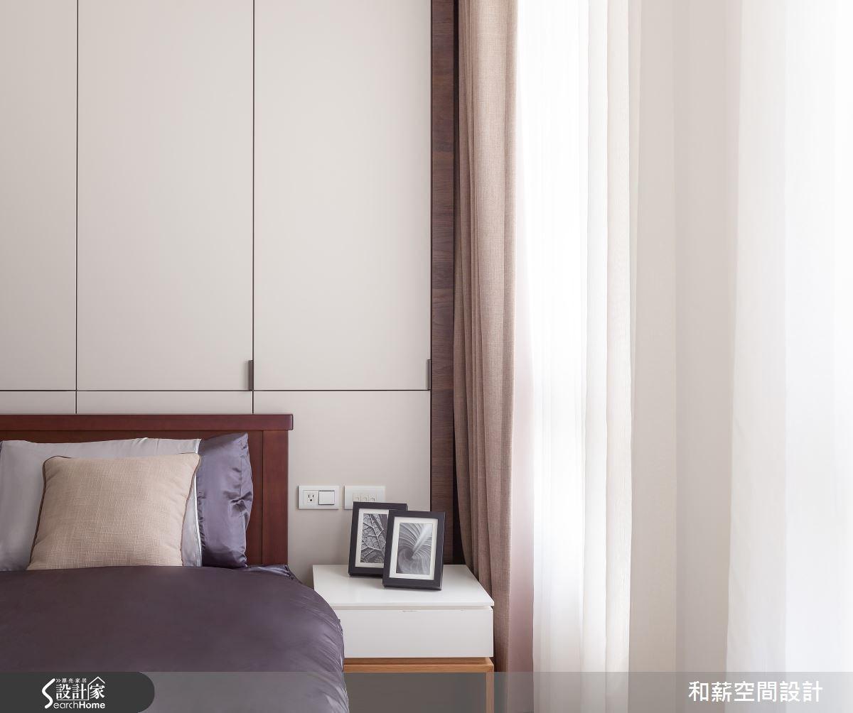 45坪新成屋(5年以下)_混搭風臥室案例圖片_和薪室內裝修設計有限公司_和薪_03之8