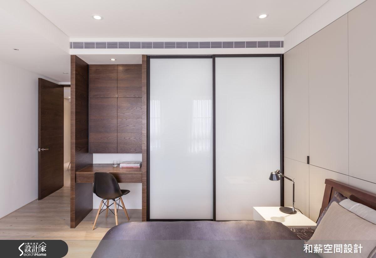 45坪新成屋(5年以下)_混搭風臥室案例圖片_和薪室內裝修設計有限公司_和薪_03之9