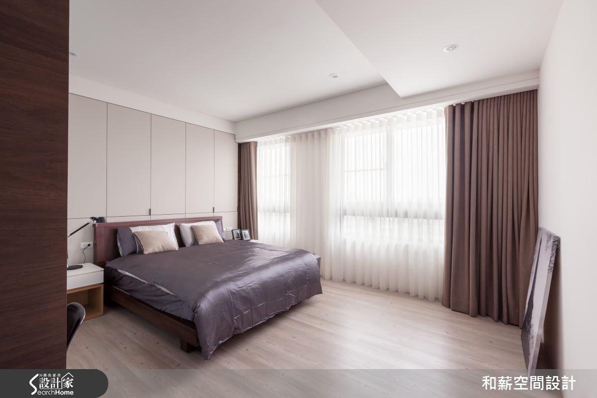 45坪新成屋(5年以下)_混搭風臥室案例圖片_和薪室內裝修設計有限公司_和薪_03之10