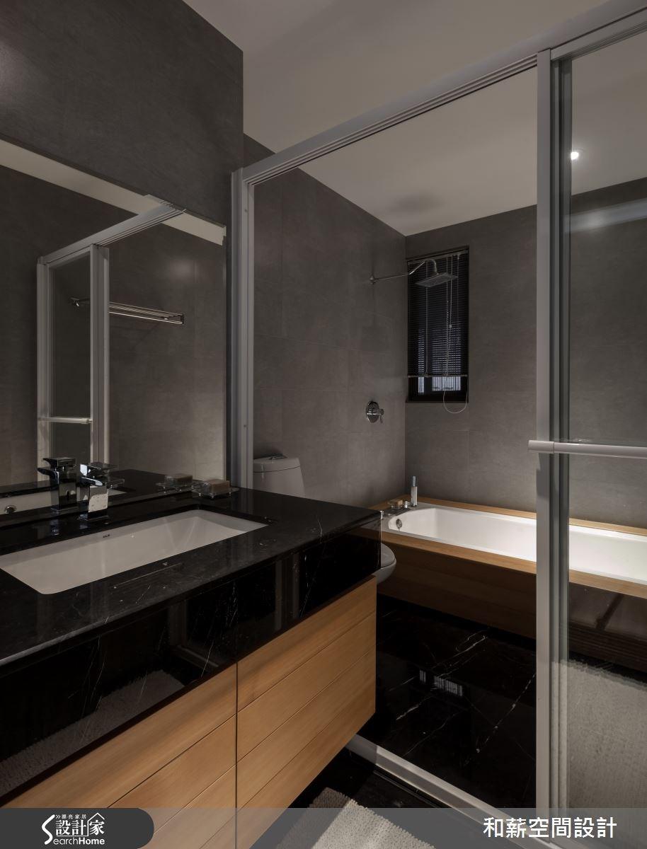 45坪新成屋(5年以下)_混搭風浴室案例圖片_和薪室內裝修設計有限公司_和薪_03之14