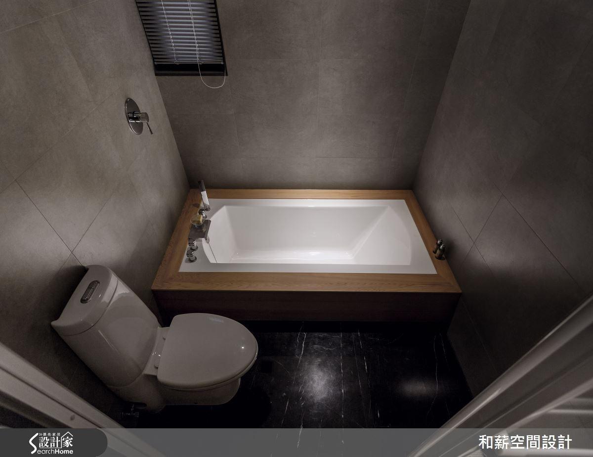 45坪新成屋(5年以下)_混搭風浴室案例圖片_和薪室內裝修設計有限公司_和薪_03之15