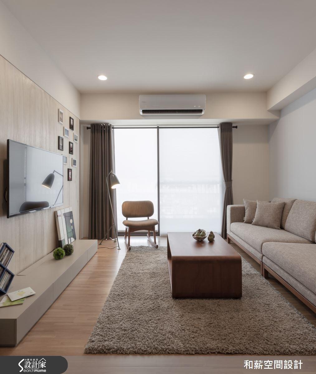 28坪新成屋(5年以下)_混搭風客廳案例圖片_和薪室內裝修設計有限公司_和薪_04之4