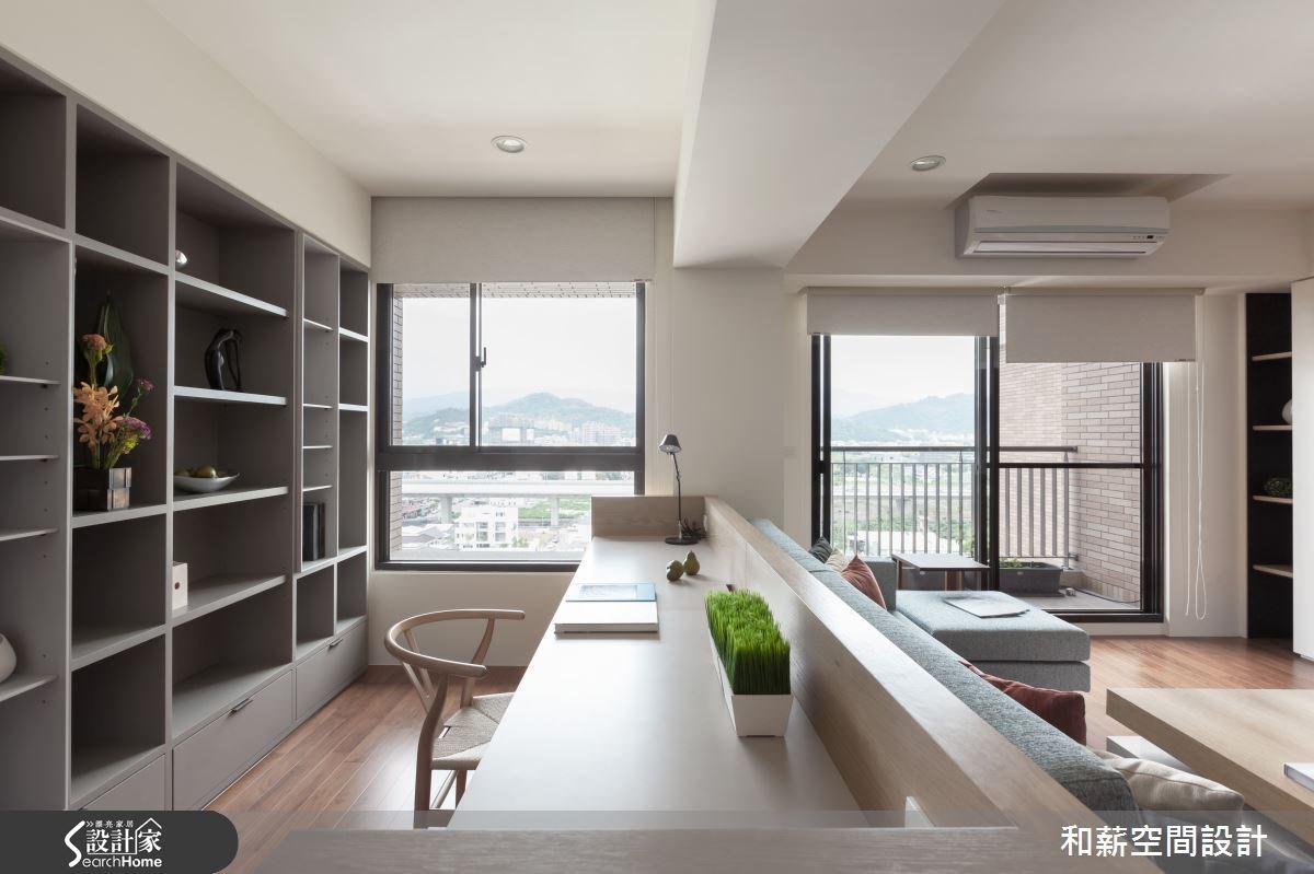 28坪新成屋(5年以下)_混搭風書房案例圖片_和薪室內裝修設計有限公司_和薪_05之3