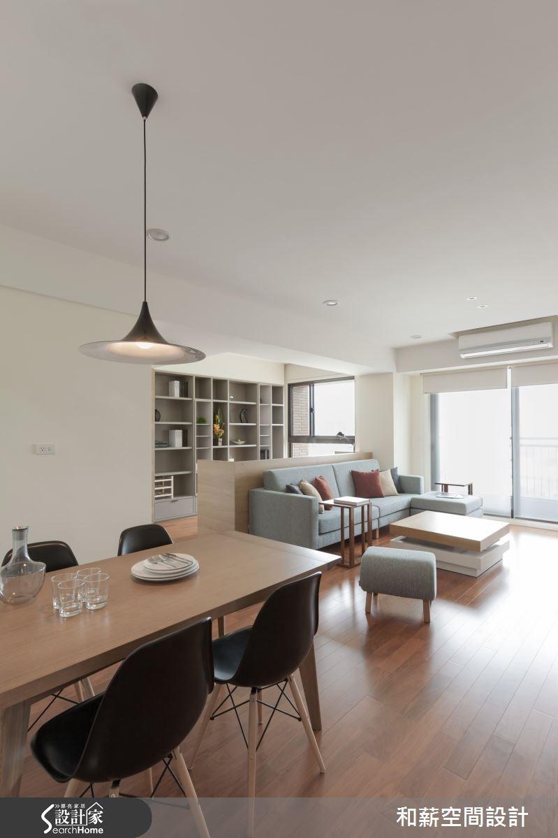 28坪新成屋(5年以下)_混搭風客廳餐廳案例圖片_和薪室內裝修設計有限公司_和薪_05之4