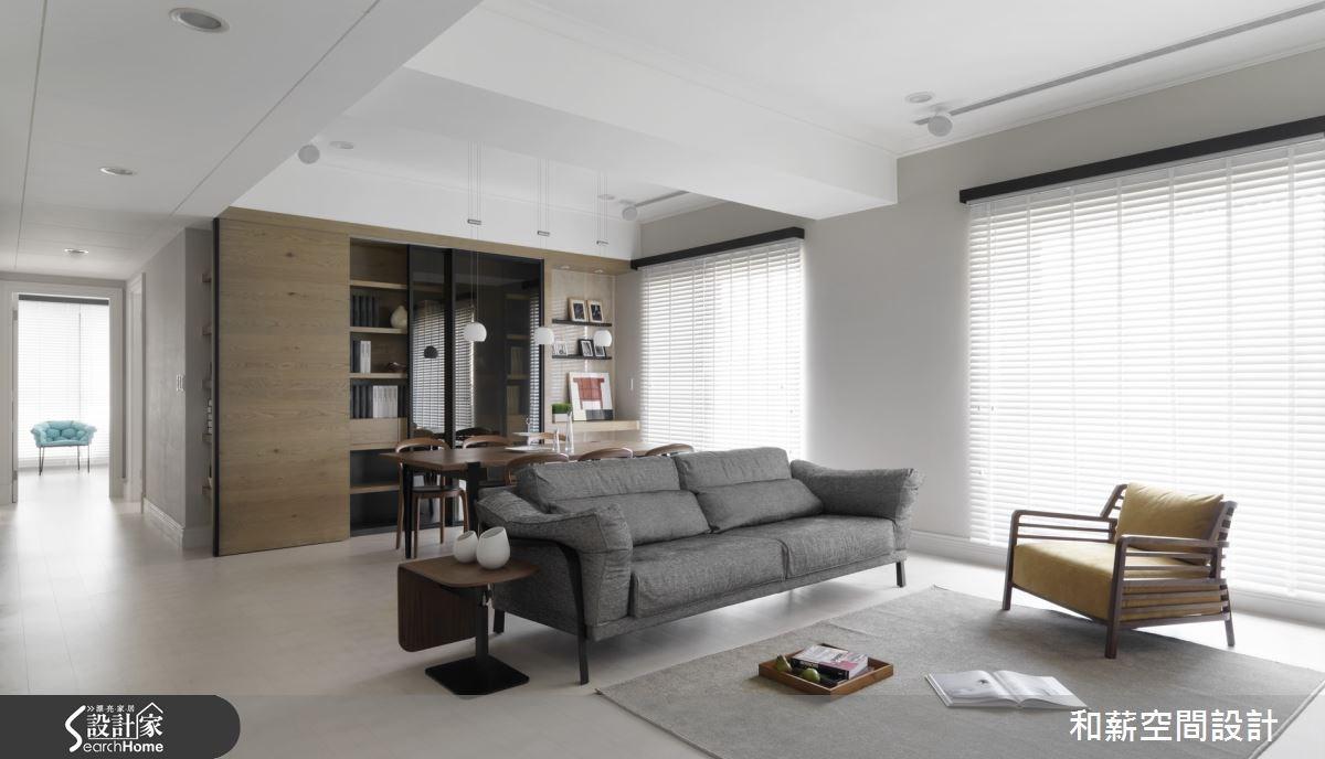 46坪新成屋(5年以下)_混搭風客廳案例圖片_和薪室內裝修設計有限公司_和薪_07之1
