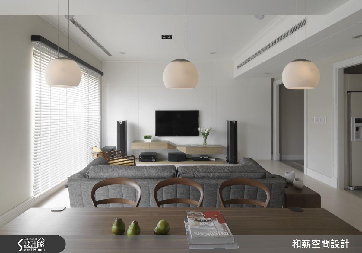 46坪新成屋(5年以下)_混搭風客廳案例圖片_和薪室內裝修設計有限公司_和薪_07之2