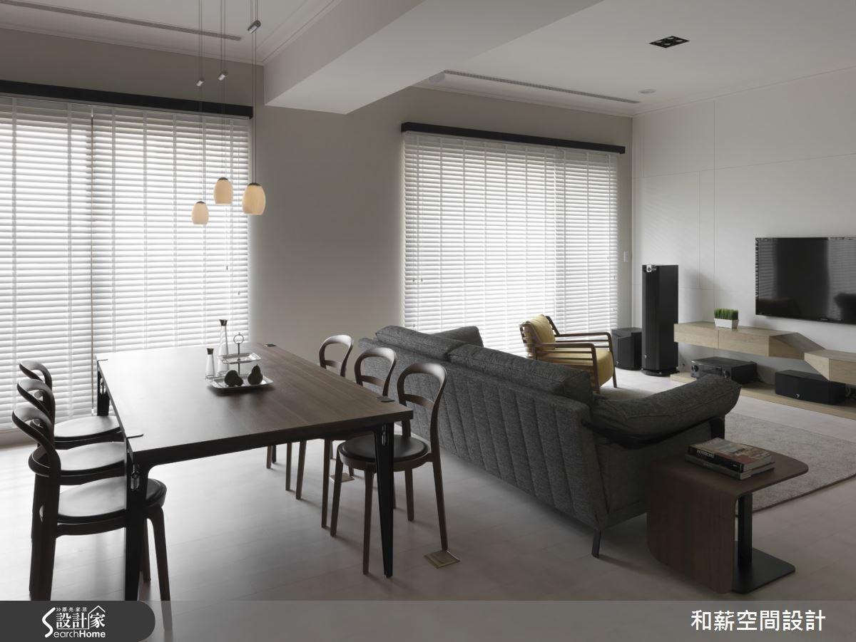 46坪新成屋(5年以下)_混搭風客廳餐廳案例圖片_和薪室內裝修設計有限公司_和薪_07之3