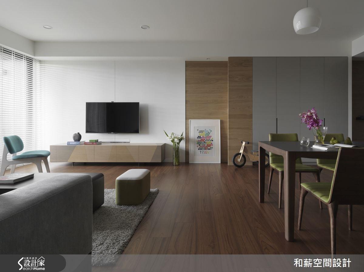 42坪新成屋(5年以下)_混搭風客廳案例圖片_和薪室內裝修設計有限公司_和薪_08之1