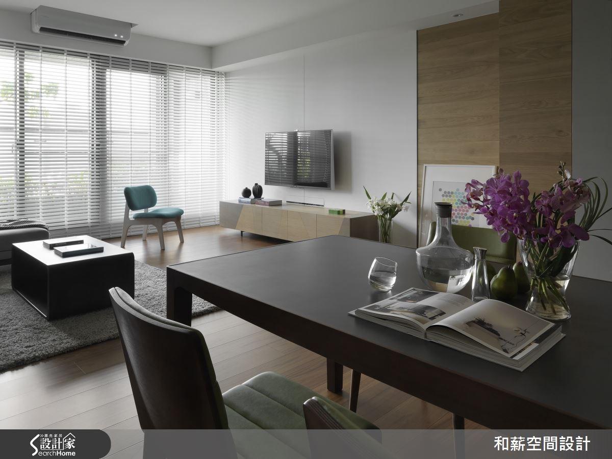42坪新成屋(5年以下)_混搭風客廳餐廳案例圖片_和薪室內裝修設計有限公司_和薪_08之2