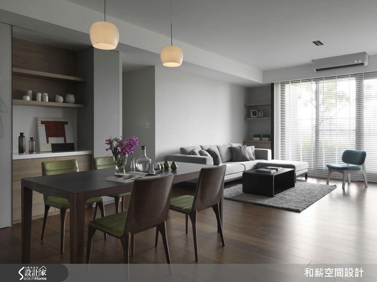 42坪新成屋(5年以下)_混搭風客廳餐廳案例圖片_和薪室內裝修設計有限公司_和薪_08之3