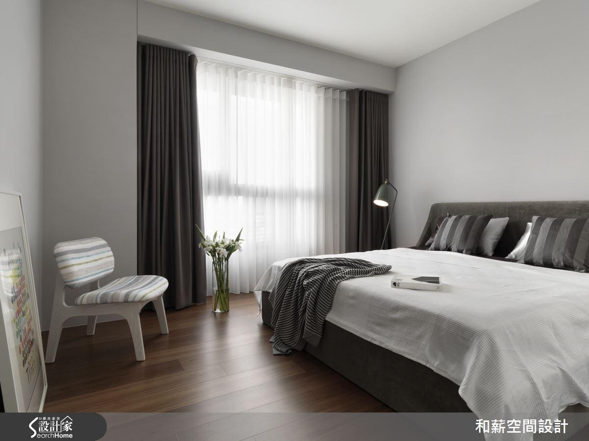 42坪新成屋(5年以下)_混搭風臥室案例圖片_和薪室內裝修設計有限公司_和薪_08之7