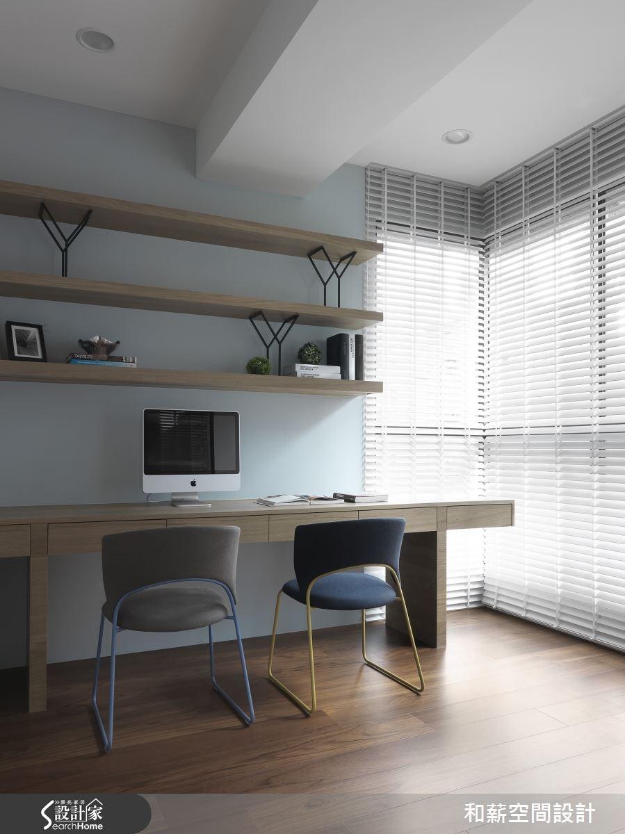 42坪新成屋(5年以下)_混搭風書房案例圖片_和薪室內裝修設計有限公司_和薪_08之10