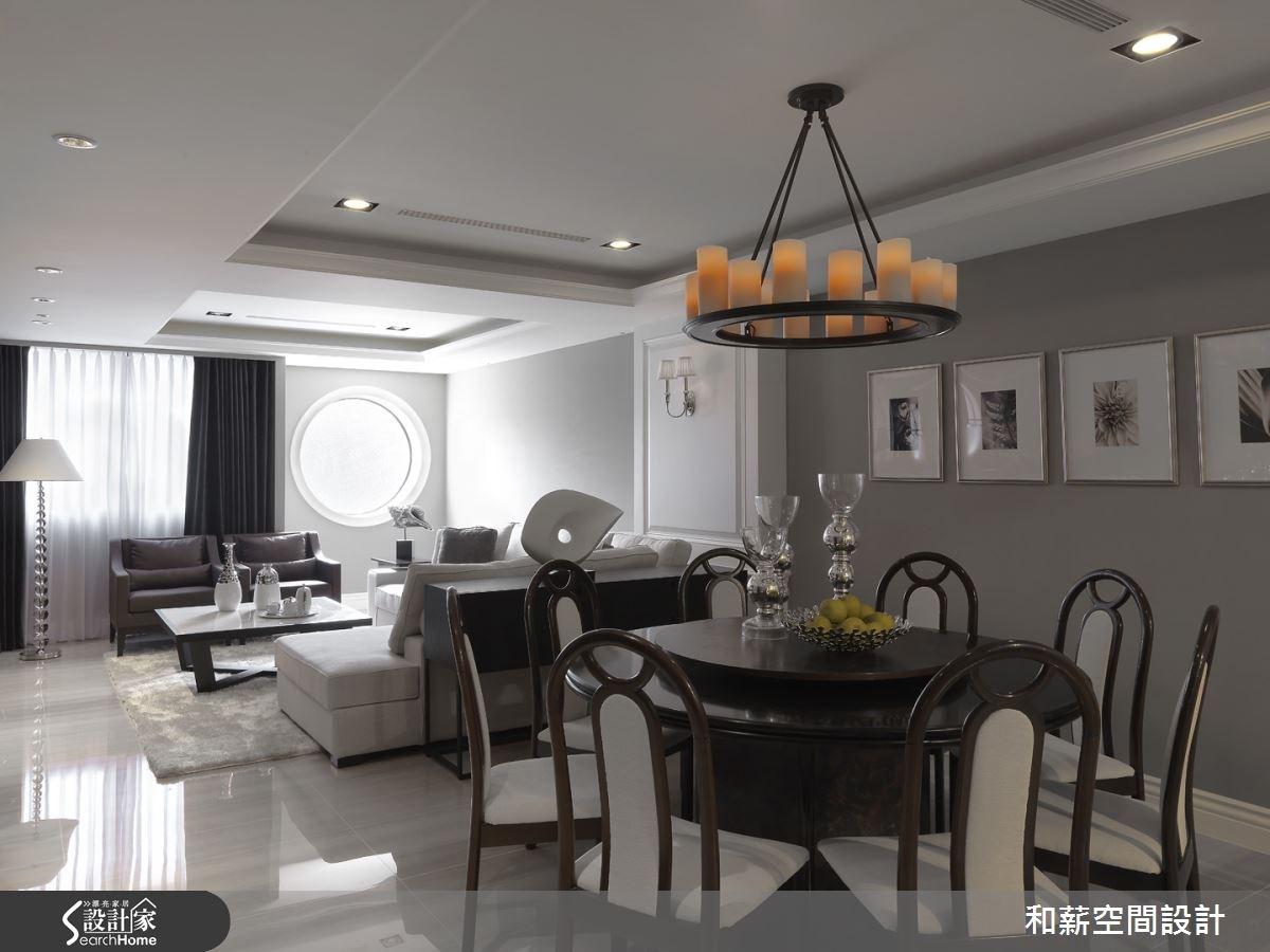 88坪老屋(16~30年)_混搭風客廳餐廳案例圖片_和薪室內裝修設計有限公司_和薪_09之4
