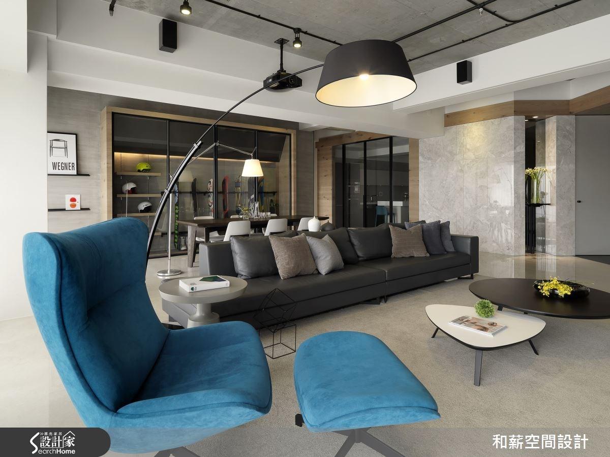 88坪新成屋(5年以下)_混搭風客廳案例圖片_和薪室內裝修設計有限公司_和薪_12之3