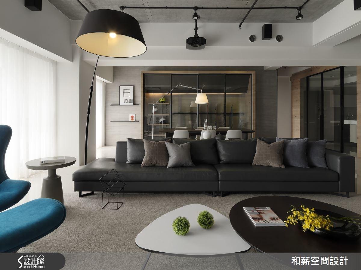 88坪新成屋(5年以下)_混搭風客廳案例圖片_和薪室內裝修設計有限公司_和薪_12之4