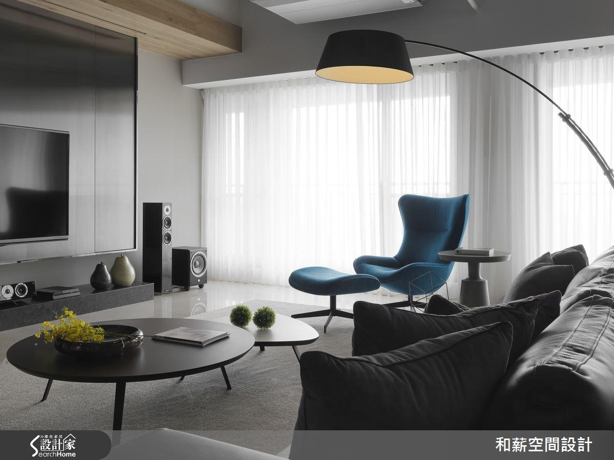 88坪新成屋(5年以下)_混搭風客廳案例圖片_和薪室內裝修設計有限公司_和薪_12之5