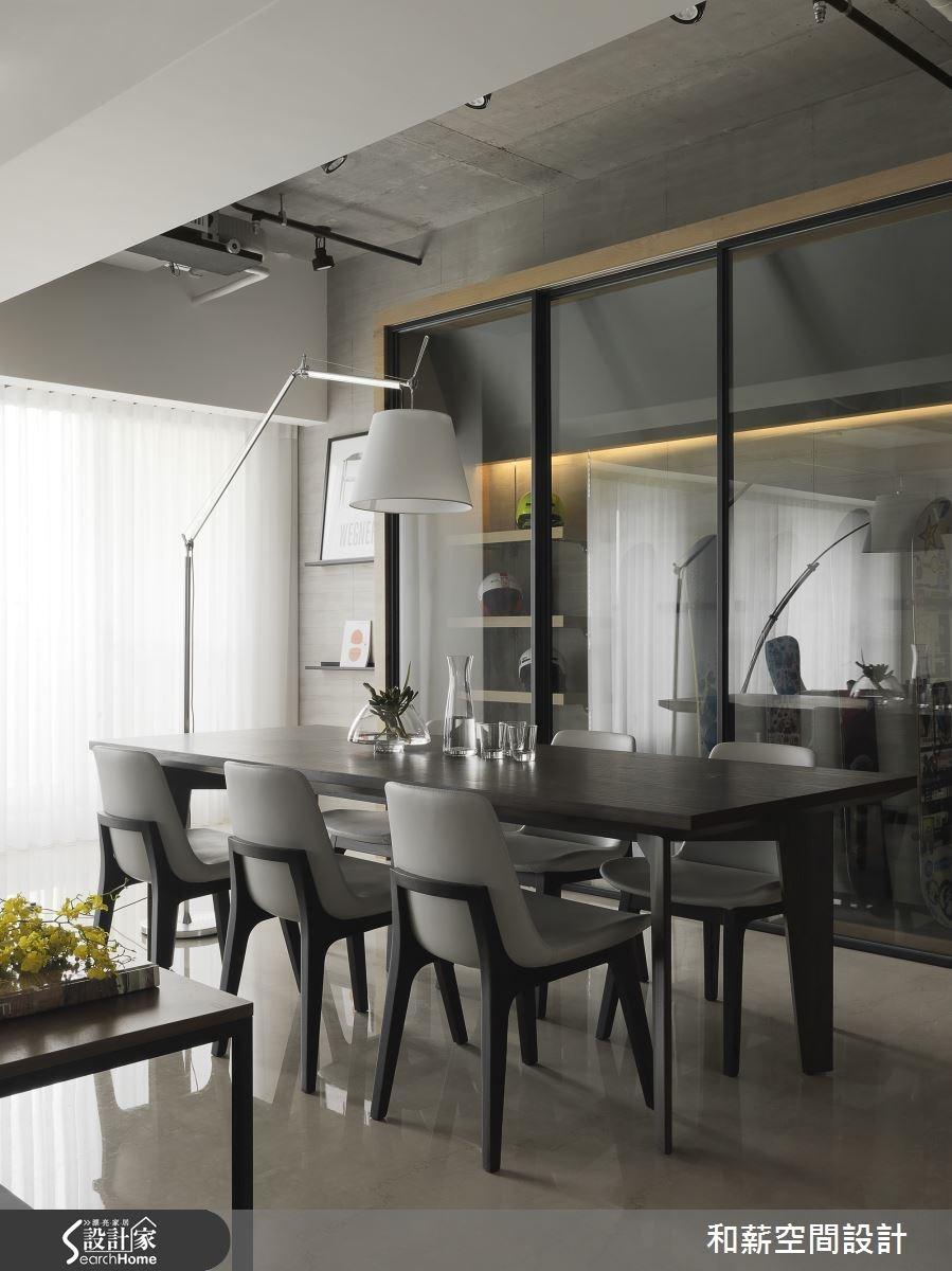 88坪新成屋(5年以下)_混搭風餐廳案例圖片_和薪室內裝修設計有限公司_和薪_12之8