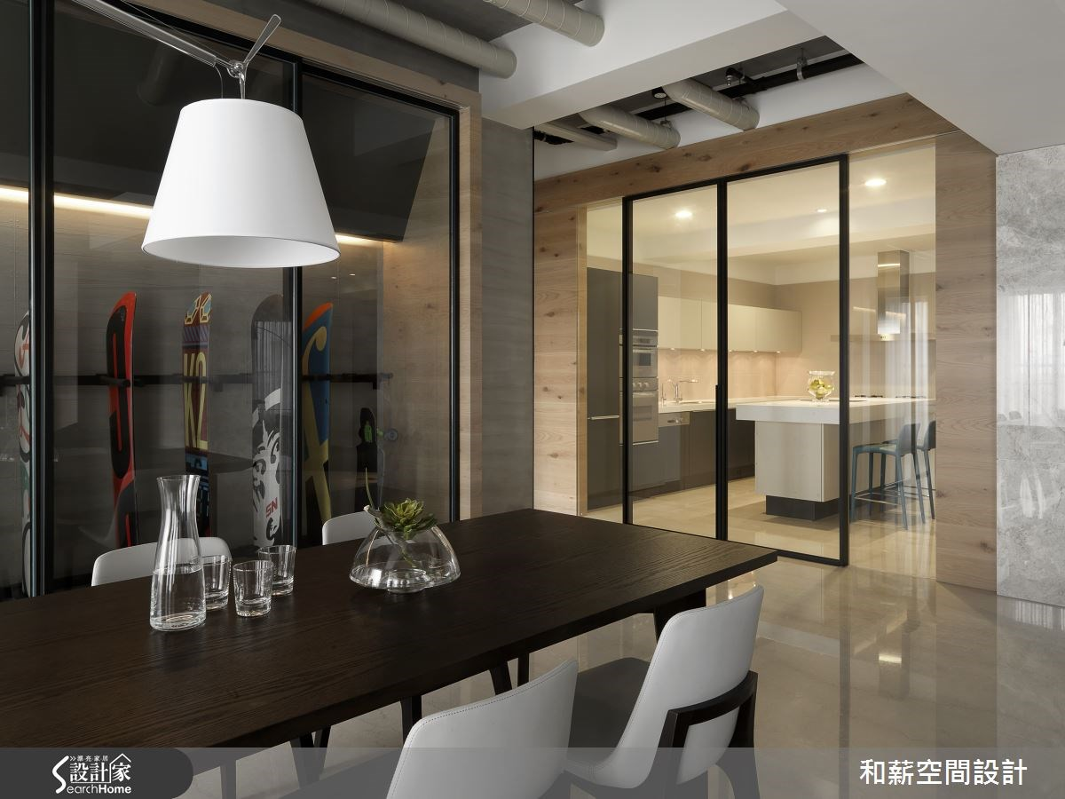 88坪新成屋(5年以下)_混搭風餐廳案例圖片_和薪室內裝修設計有限公司_和薪_12之9