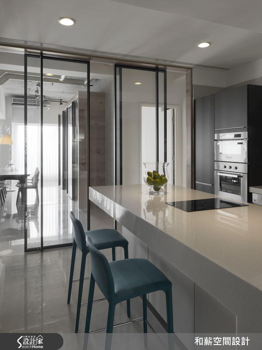 88坪新成屋(5年以下)_混搭風廚房吧檯案例圖片_和薪室內裝修設計有限公司_和薪_12之10