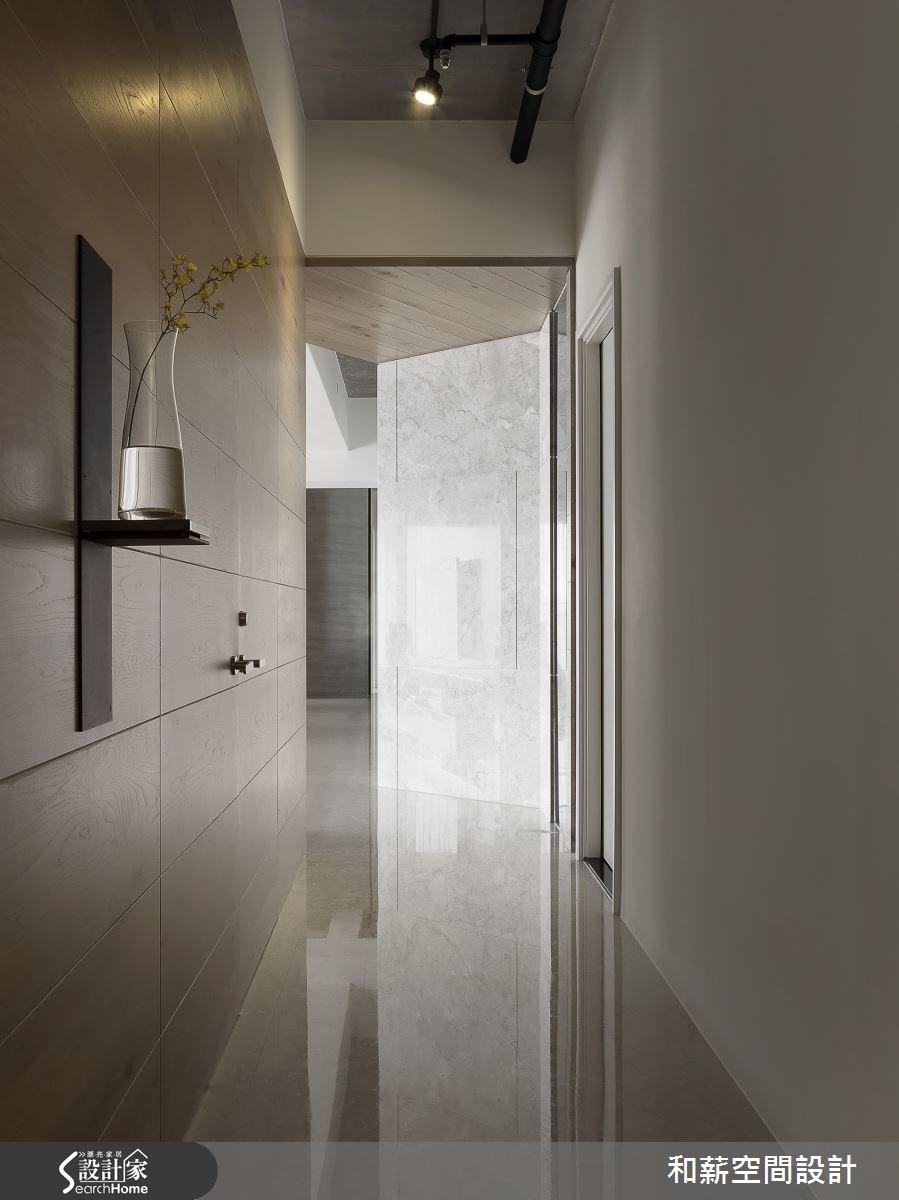 88坪新成屋(5年以下)_混搭風走廊案例圖片_和薪室內裝修設計有限公司_和薪_12之11