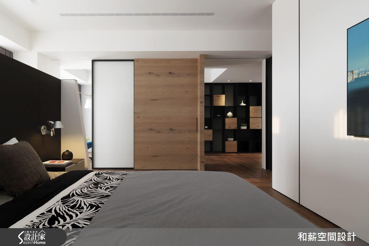 88坪新成屋(5年以下)_混搭風臥室案例圖片_和薪室內裝修設計有限公司_和薪_12之15