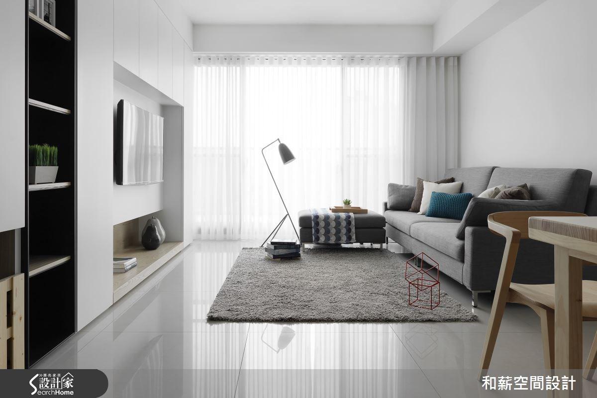 25坪新成屋(5年以下)_混搭風客廳案例圖片_和薪室內裝修設計有限公司_和薪_13之1