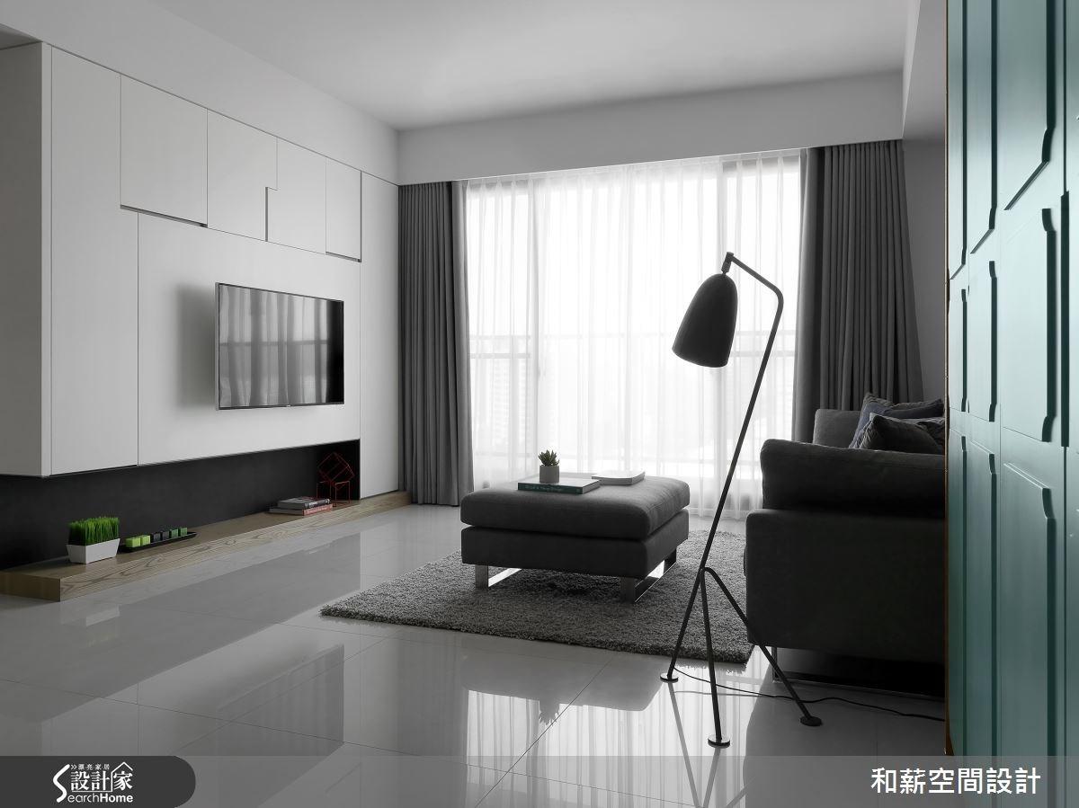 25坪新成屋(5年以下)_混搭風客廳案例圖片_和薪室內裝修設計有限公司_和薪_14之1