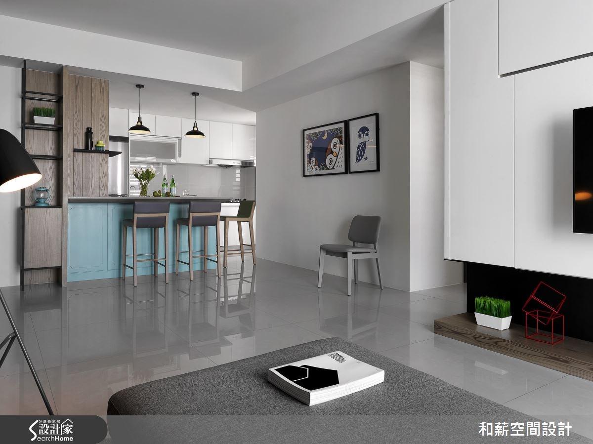 25坪新成屋(5年以下)_混搭風吧檯案例圖片_和薪室內裝修設計有限公司_和薪_14之2