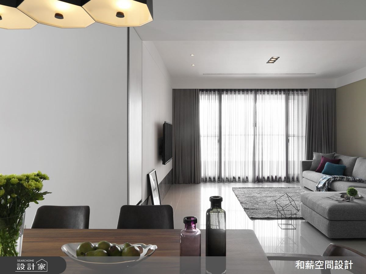 41坪新成屋(5年以下)_混搭風客廳案例圖片_和薪室內裝修設計有限公司_和薪_15之3