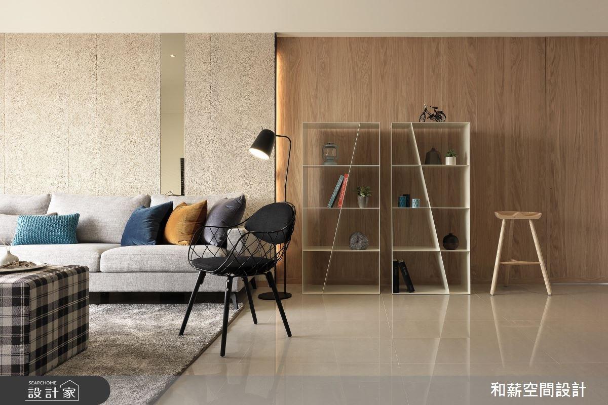 35坪新成屋(5年以下)_現代風客廳案例圖片_和薪室內裝修設計有限公司_和薪_18之2