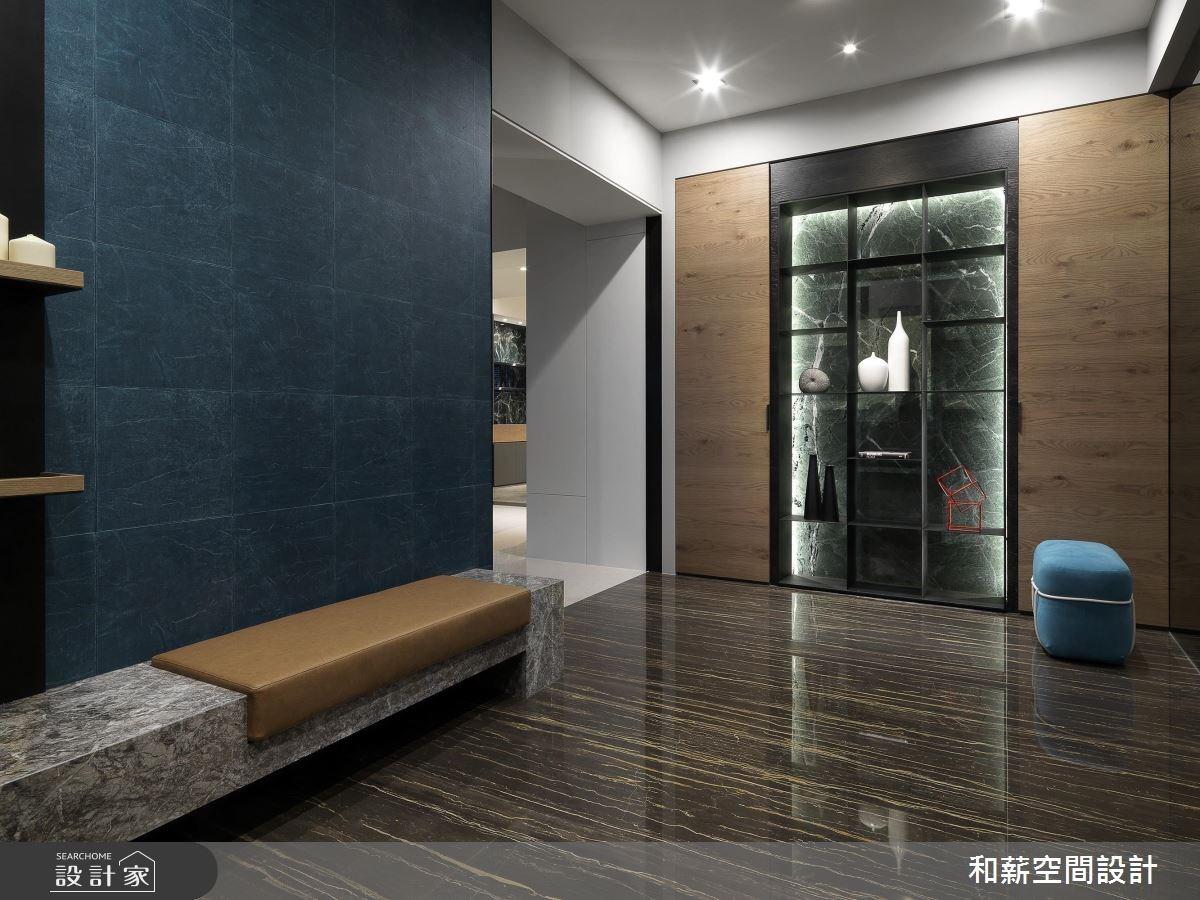 95坪新成屋(5年以下)_混搭風玄關案例圖片_和薪室內裝修設計有限公司_和薪_20之1
