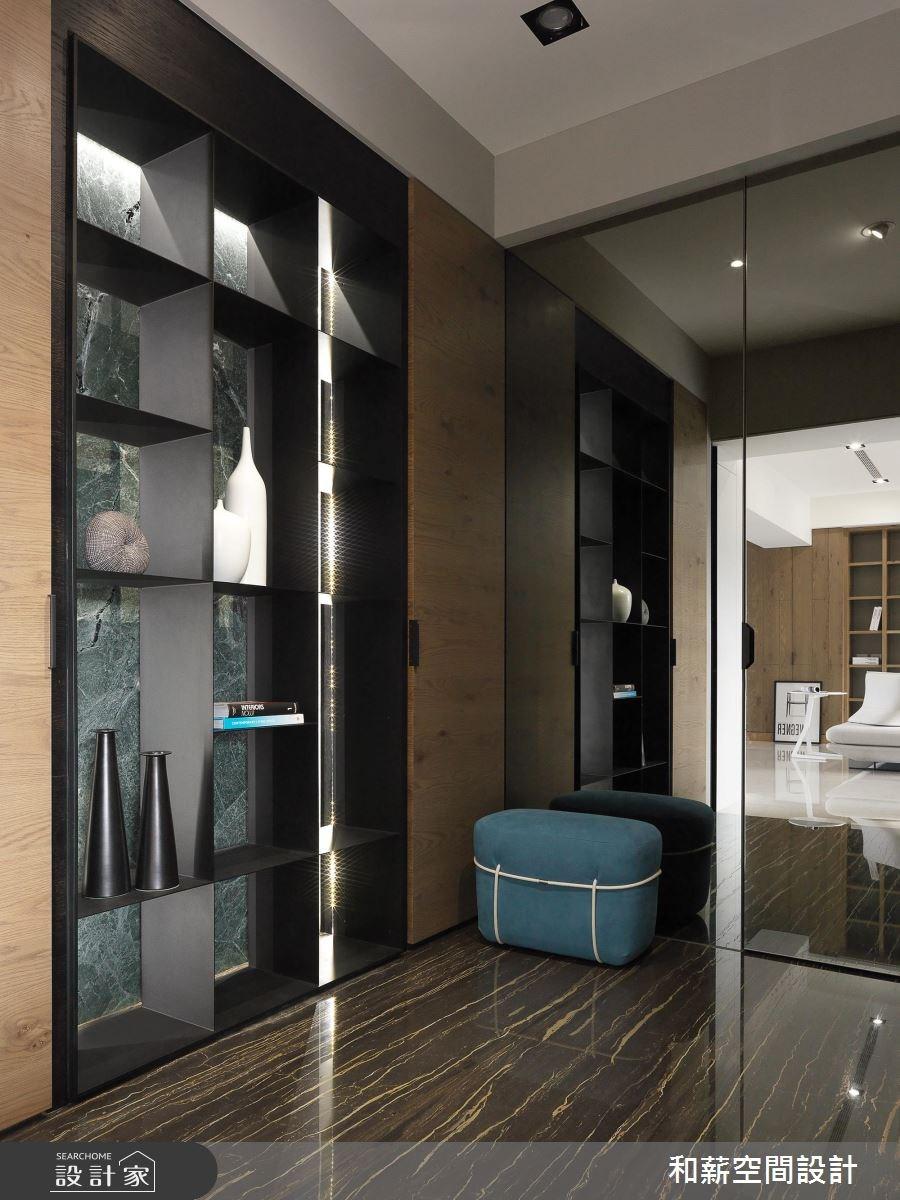 95坪新成屋(5年以下)_混搭風玄關案例圖片_和薪室內裝修設計有限公司_和薪_20之3