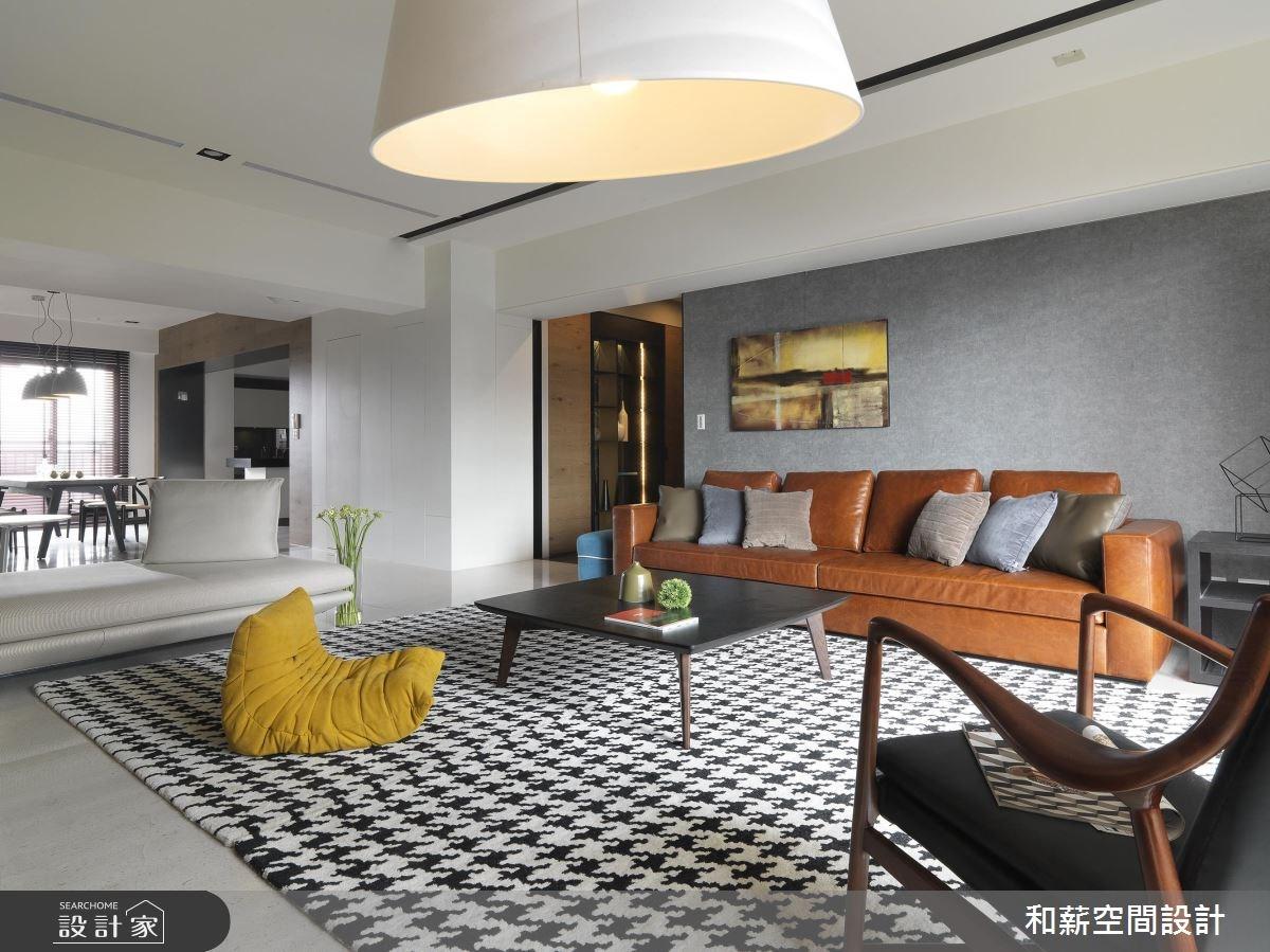 95坪新成屋(5年以下)_混搭風客廳案例圖片_和薪室內裝修設計有限公司_和薪_20之4
