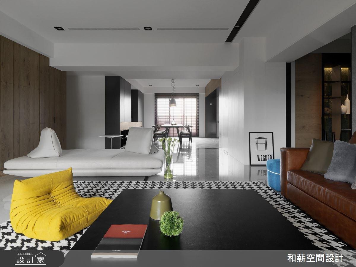 95坪新成屋(5年以下)_混搭風客廳案例圖片_和薪室內裝修設計有限公司_和薪_20之7