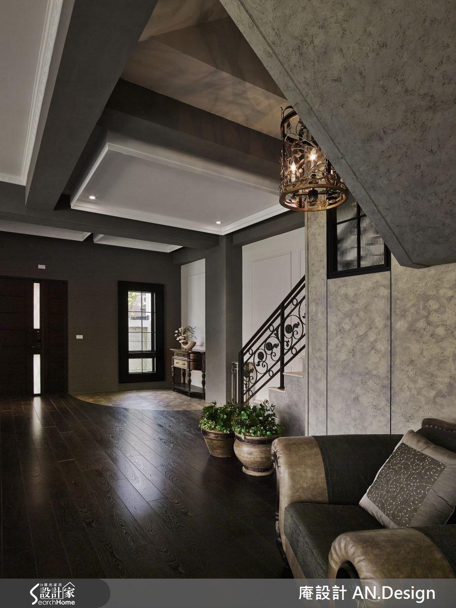 50坪新成屋(5年以下)_混搭風玄關樓梯案例圖片_庵設計店_庵設計_05之2
