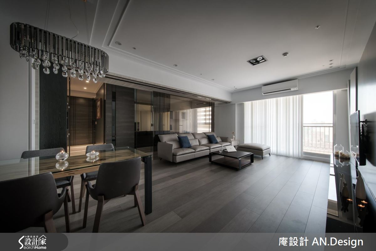 住得超寬敞!巧用通透材質 打造 40 坪現代質感宅
