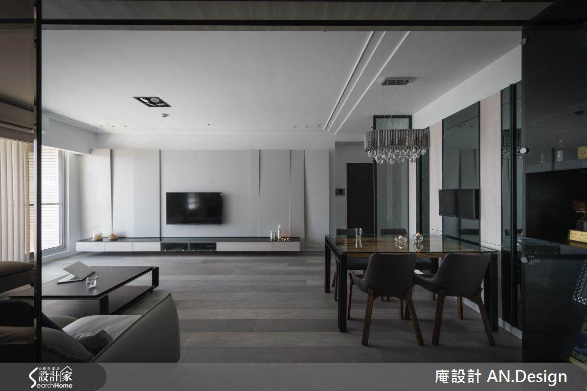 40坪新成屋(5年以下)_混搭風客廳餐廳案例圖片_庵設計店_庵設計_06之4