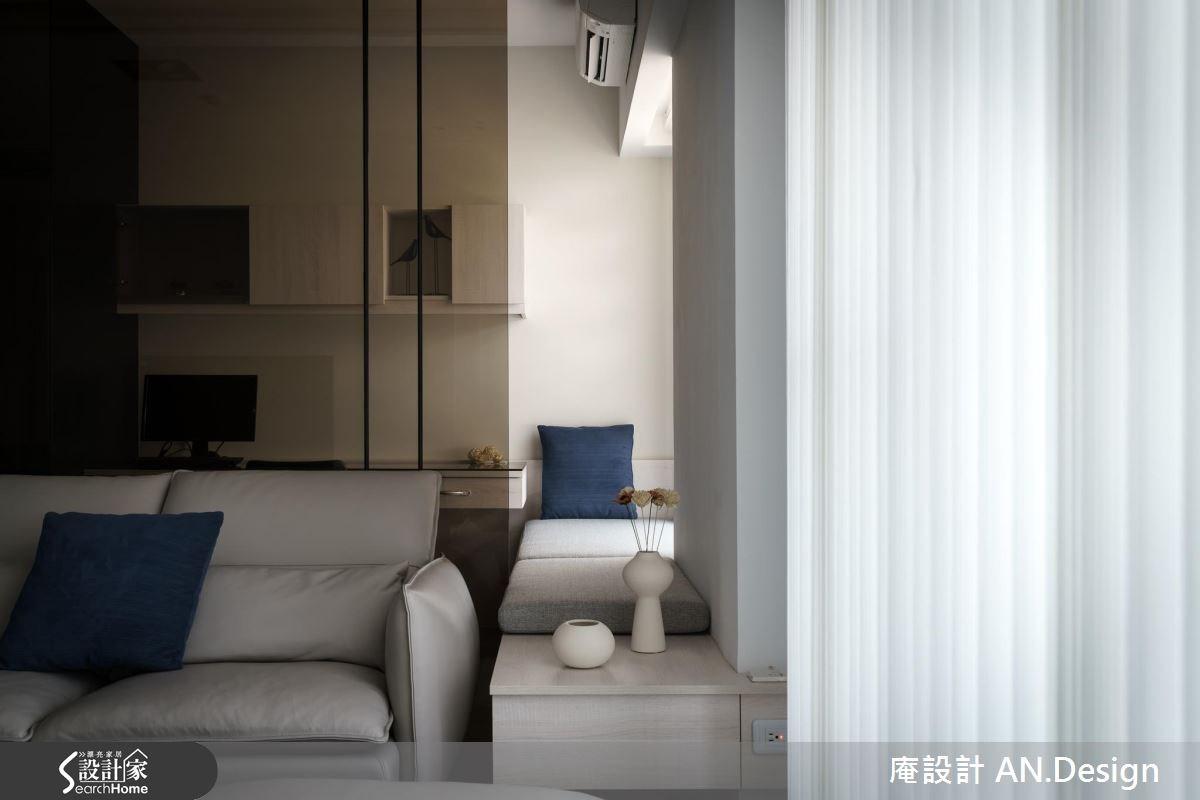 40坪新成屋(5年以下)_混搭風客廳案例圖片_庵設計店_庵設計_06之5