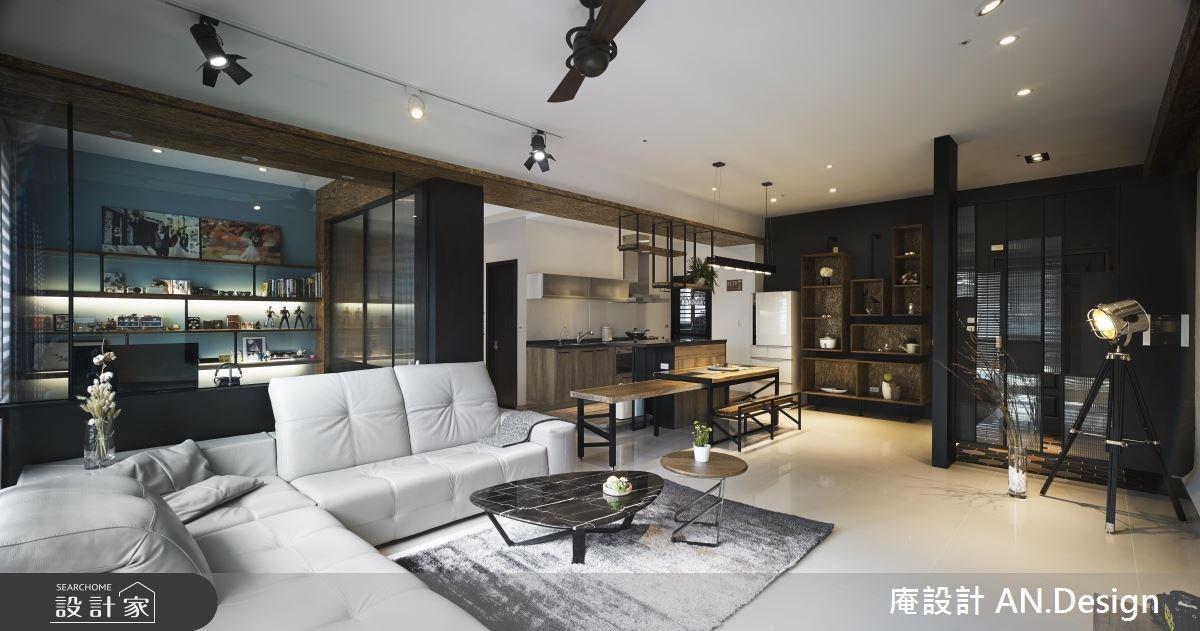 40坪新成屋(5年以下)_工業風客廳餐廳案例圖片_庵設計店_庵設計_07之3