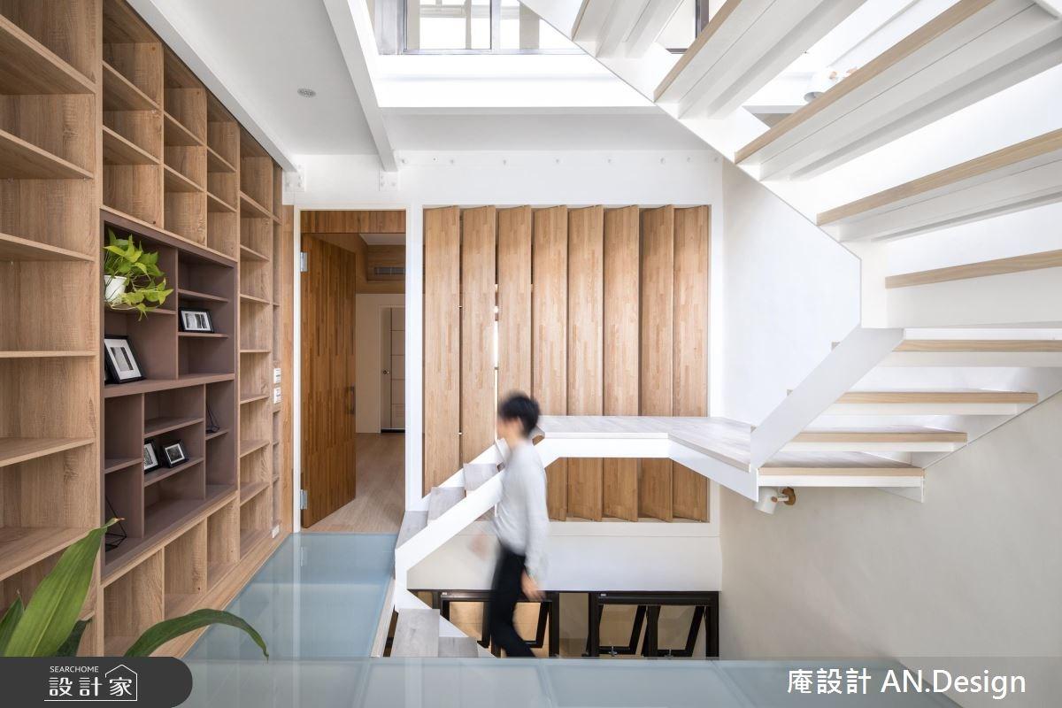 65坪老屋(16~30年)_北歐風樓梯案例圖片_庵設計店_庵設計_10之4