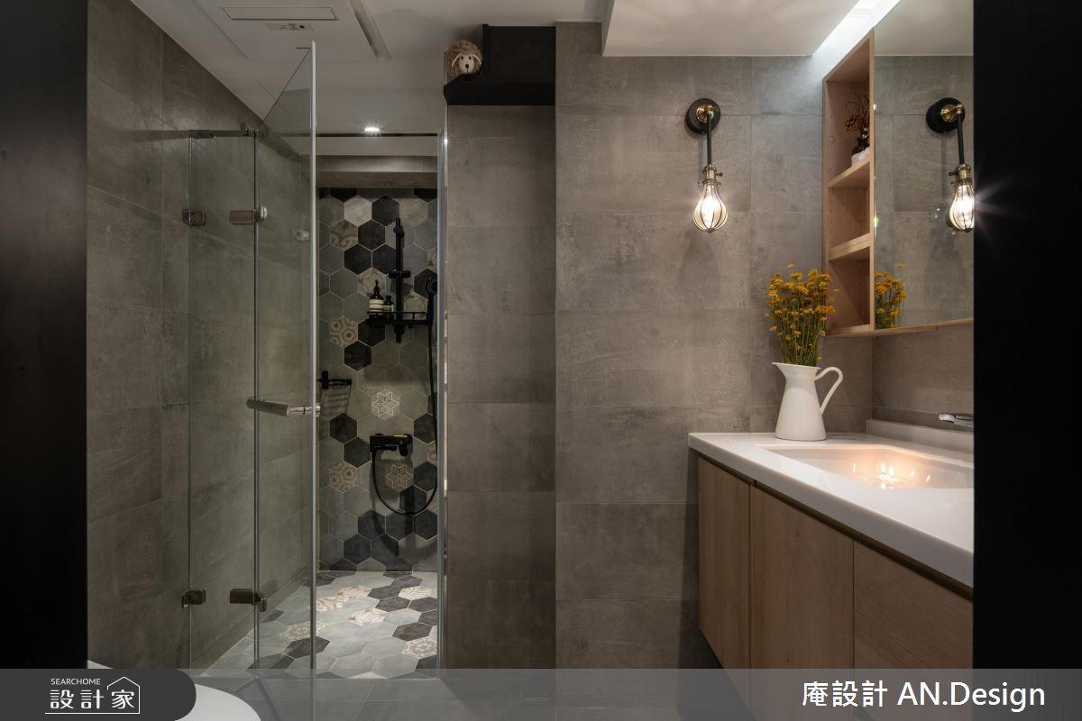 23坪中古屋(5~15年)_混搭風浴室案例圖片_庵設計店_庵設計_11之20