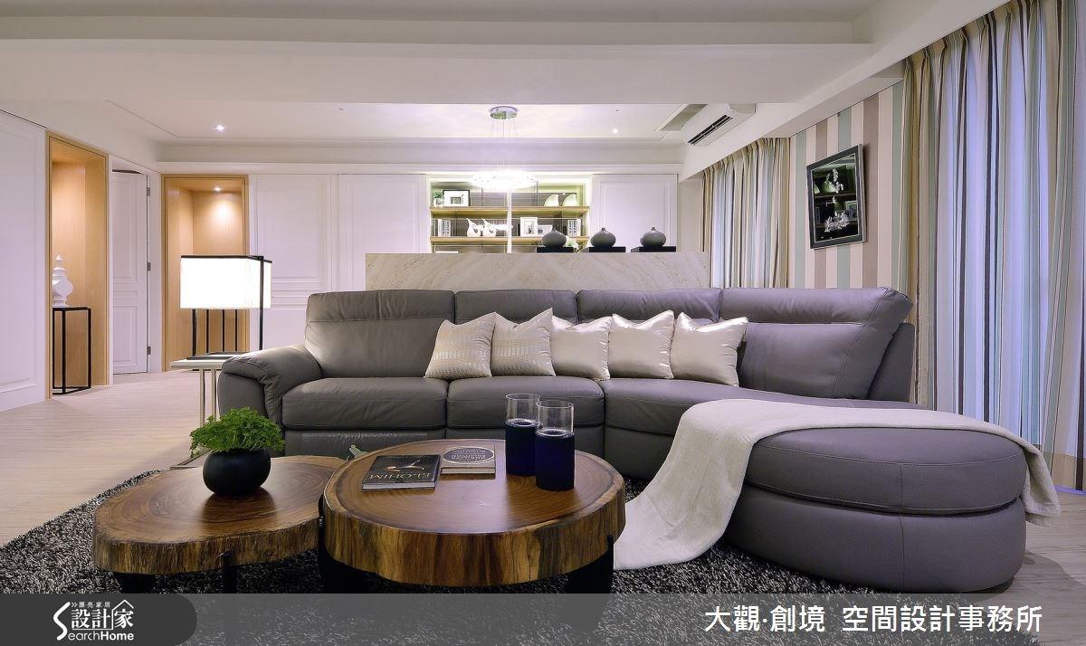 45坪新成屋(5年以下)_美式風案例圖片_大觀‧創境  空間設計事務所_大觀‧創境_04之3