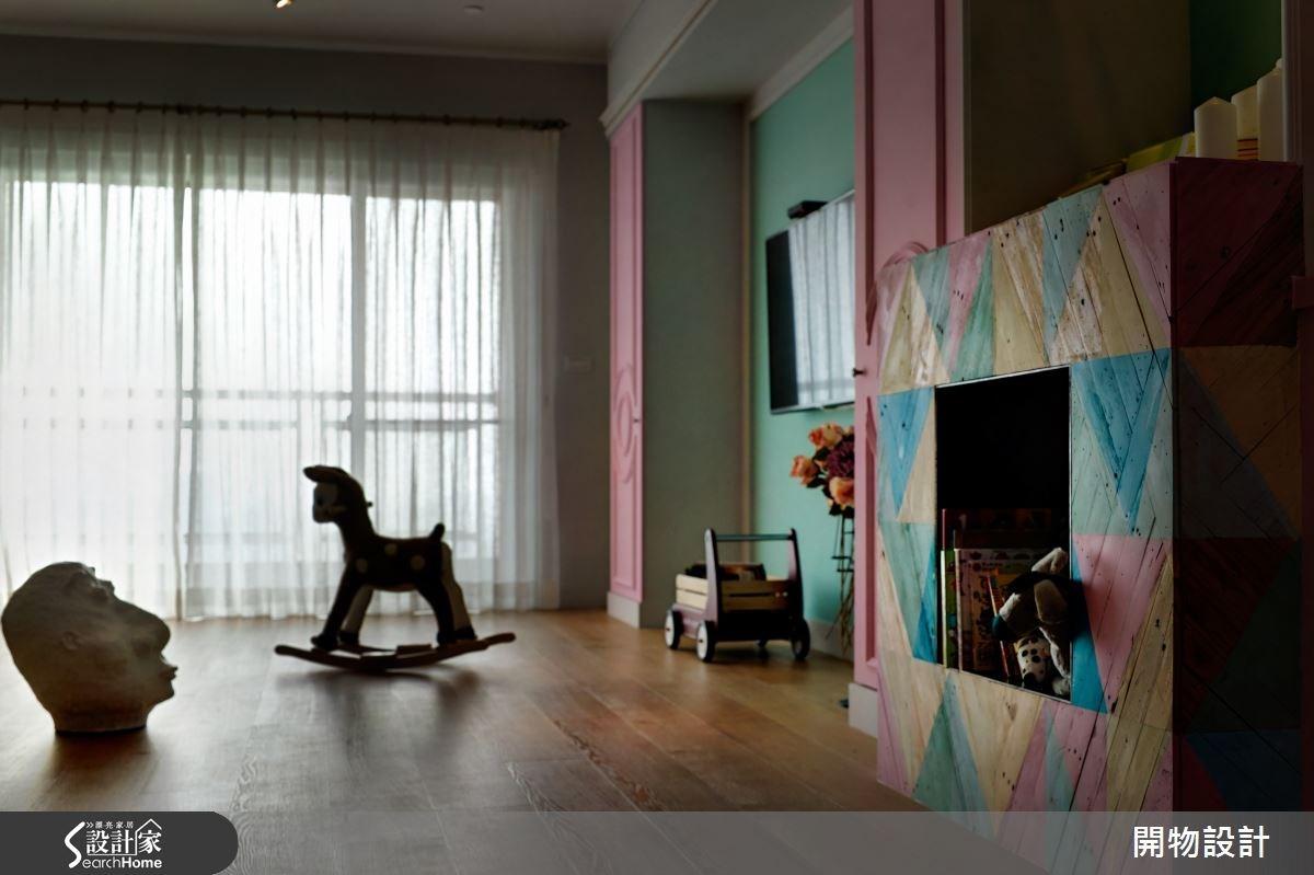 45坪老屋(16~30年)_混搭風客廳案例圖片_開物設計_開物_20之4