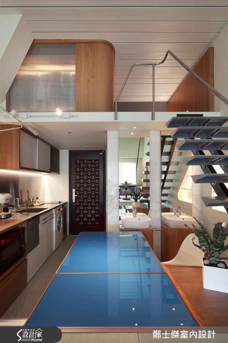 8坪新成屋(5年以下)_廚房樓梯案例圖片_鄭士傑設計有限公司_鄭士傑_02之2