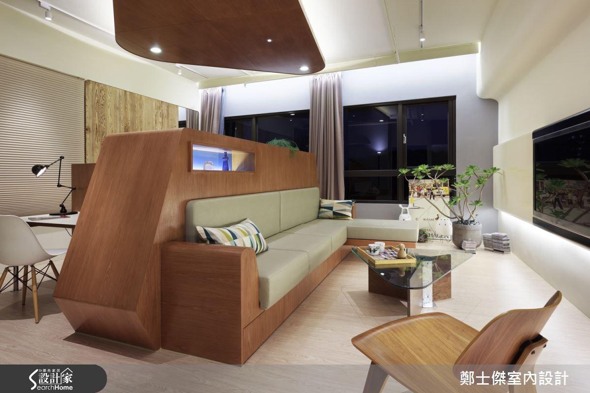 10坪新成屋(5年以下)_混搭風客廳案例圖片_鄭士傑設計有限公司_鄭士傑_06之3