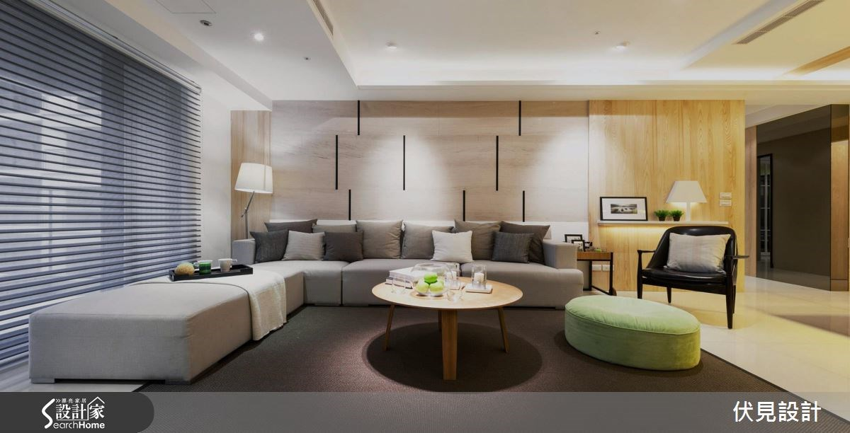 46坪新成屋(5年以下)_北歐風客廳案例圖片_伏見設計事業有限公司_伏見_03之4